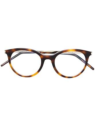 Saint Laurent Eyewear round frame glasses - Marrom