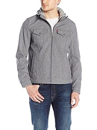 Levi's Mens Softshell Jacket, Heather Cement, Large