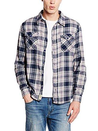 96c9ad49a8ed M.O.D AU16-MS729-Camicia Casual Uomo Grigio (Grey Check) L