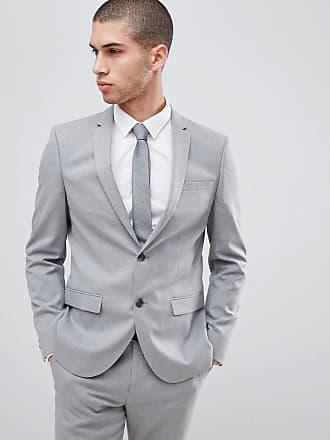 River Island grå kostymjacka i smal passform - Grå 15226e4809c77