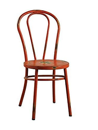 ACME 96812 Cerys Antique Orange Side Chair (Set of 2)