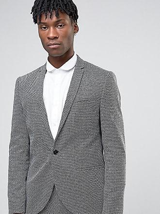 Noak Chaqueta de traje de corte slim texturizada con diseño monocromático  ... ec4c86a27bf