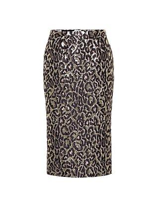 Rochas Oncidium brocade high-waisted skirt