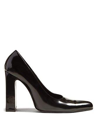 daf6dbecad2e Balenciaga Block Heel Leather Pumps - Womens - Black