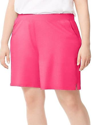 Just My Size Cotton Jersey Pocket Womens Shorts Brilliant Red 3X