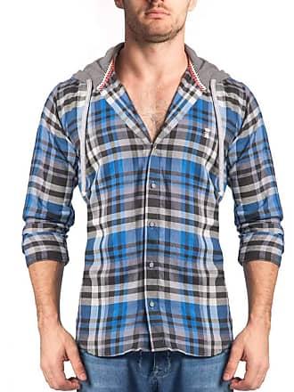 Sergio K. Camisa Xadrez Madras Capuz Azul