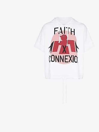 Faith Connexion Eagle print short sleeve hoodie