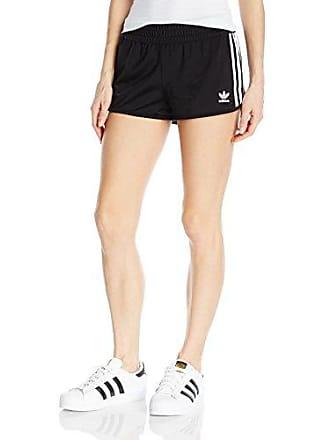 adidas Originals Womens Bottoms 3 Stripe Shorts, Black, X-Large