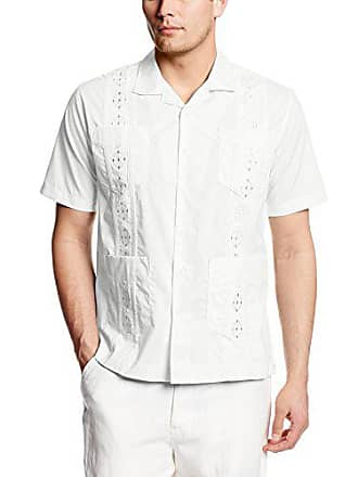 3de72740 Havanera Co. Mens Short Sleeve Guayabera Shirt, Pure White, XX-Large