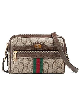 Gucci mini sca porté épaule Ophidia GG Supreme - Marron fd5a4ce0ea7