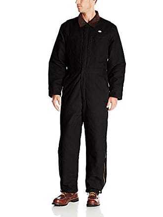 Dickies Mens Big-Tall Sanded Duck Insulated Coverall, Black, Large Tall