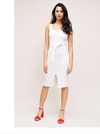 Dynamite Denim Pencil Dress Bright White