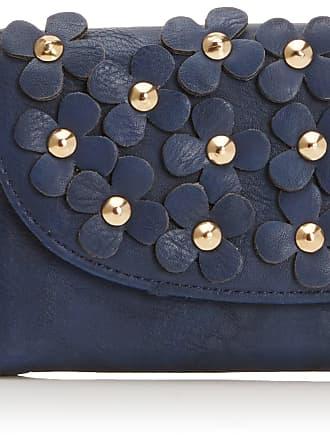 Swankyswans Womens Demi Daisy Motif Wallet DW Navy Blue