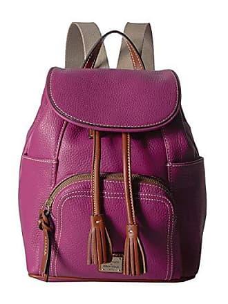 Dooney & Bourke Pebble Medium Murphy Backpack (Magenta/Tan Trim) Backpack Bags