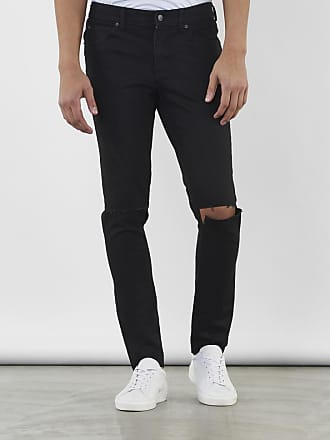 Jeans Low Spray Extreme Super Skinny Mid Blue Ripped Knee