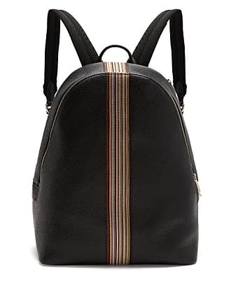 Paul Smith Signature Stripe Leather Backpack - Mens - Black