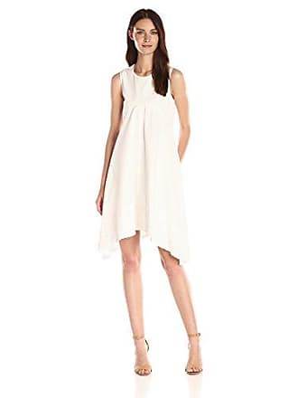 Nanette Lepore Womens Kerchief Hem Swing Dress, Ivory Igloo 8