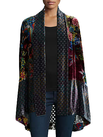 69b5f393b31f1 Johnny Was Plus Size Dream Multi-Print Velvet Kimono Jacket