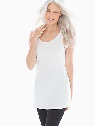 Soma Pima Cotton Tunic Layering Tank White, Size XXL