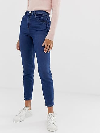 Asos Recycled Farleigh high waisted slim mom jeans in dark wash - Blue