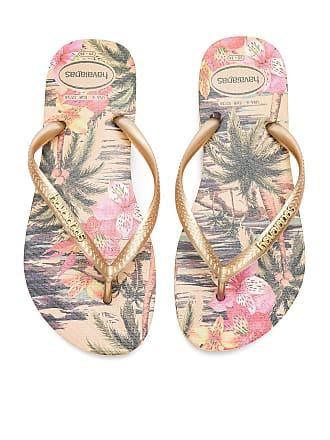 90fc3dd93 Havaianas Slim Tropical Sandal in Metallic Gold