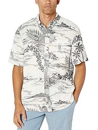 7468de285 Reyn Spooner Mens Linen Classic Fit Hawaiian Shirt, Indoscene - White  Alyssum, XX-