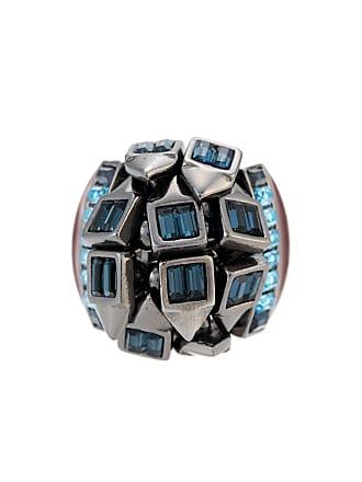 89b4175c967 Camila Klein Anel botões quadrados Helena - Metálico