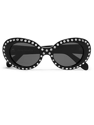 218e6d505 Acne Studios Mustang Round-frame Crystal-embellished Acetate Sunglasses -  Black