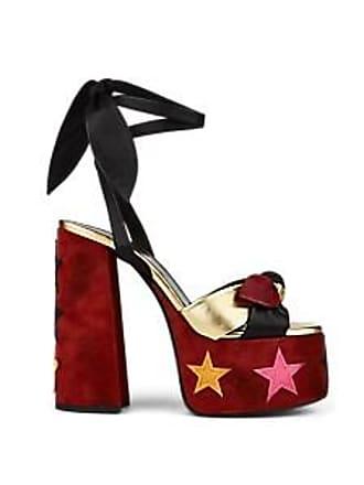 1fd21fc6013 Saint Laurent Womens Paige Leather   Suede Platform Sandals Size 9