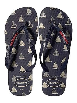 93a5a2f2d Havaianas Top Nautical Flip-Flops (Navy Blue Navy Blue) Mens Sandals