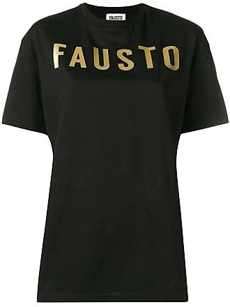 FAUSTO PUGLISI logo print T-shirt - Preto