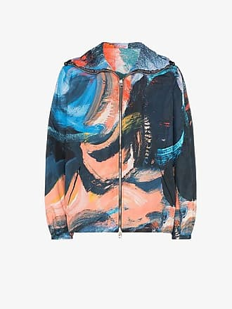 Alexander McQueen painters canvas shell hooded jacket