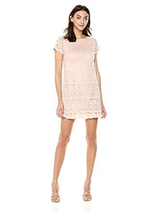 Vince Camuto Womens Lace Shift Dress, Blush, 12