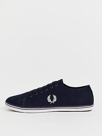 Fred Perry Kingston twill sneakers in navy - Navy