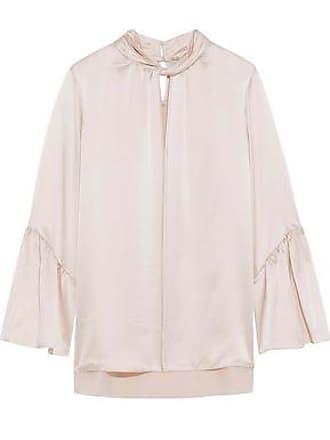 803aaddb129a Elie Tahari Elie Tahari Woman Laraib Twist-front Silk-satin Blouse Pastel  Pink Size