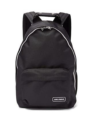 Ami Ami - Logo Patch Canvas Backpack - Mens - Black