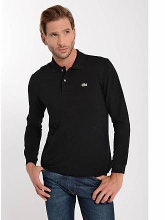 620c3c03aaa Lacoste Polo en coton piqué manches longues Noir Lacoste