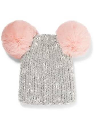 9f51ba80a2c Eugenia Kim Mimi Pompom-embellished Ribbed Wool-blend Beanie - Gray