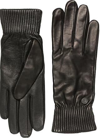Canada Goose Black Label Leather Rib Gloves - Black