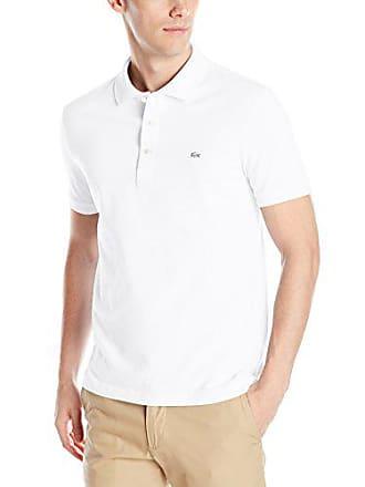 2b80712c Lacoste Mens Short Sleeve Slim Fit Stretch Petit Piqué Polo, White,  XXX-Large