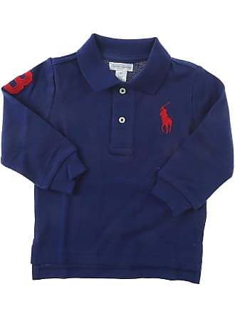c56e78351cdc Ralph Lauren Baby Polo Shirt for Boys On Sale in Outlet, Blue, Cotton,