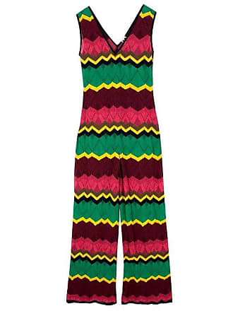 9a3800b2718a Missoni V-neck Zigzag Knit Jumpsuit Us 6