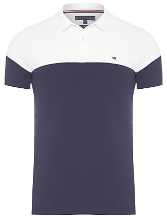 Tommy Hilfiger POLO MASCULINA COLORBLOCK SLIM - AZUL