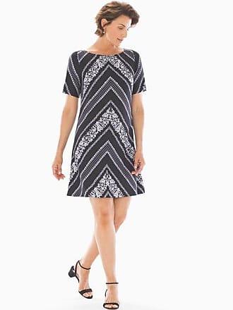 Soma Adrianna Papell Botanical Shift Dress Black/White, Size 14