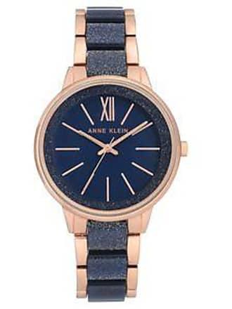 687a5276bc37 Anne Klein Reloj con Extensible Bicolor br Marino y Dorado Rosado