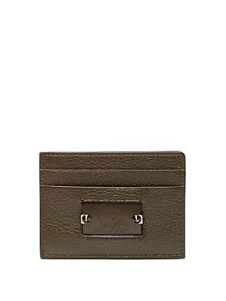 93e8922eb655 Christian Louboutin Kios Spike Leather Cardholder - Mens - Green Multi