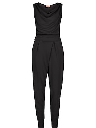 66000b2360eac2 Cartoon Jumpsuit, Schwarz, Schrittlänge: 74 cm, Unifarben Stil, für Frauen,