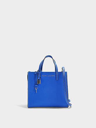 9d47ac9181fc Marc Jacobs Handtasche The Mini Grind aus blauem Kalbsleder