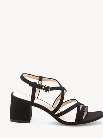 739af9e73d9 Sole Society Womens Seranah Strappy Block Heels Sandals Black Size 10 Suede  From Sole Society