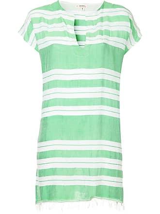 Lemlem Vestido túnica listrado - Verde